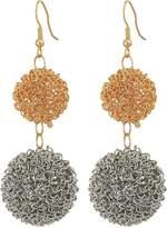 Kenneth Jay Lane Women's Double Wire Ball Drop w/ Fishhook Ear Earrings Earring