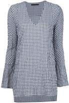 Jenni Kayne gingham v-neck blouse