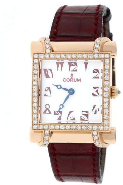 Corum Antika 18K Rose Gold With Diamond Bezel Womens Watch