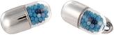 Jan Leslie Blue Pill Case Cufflinks
