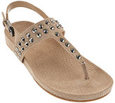 Marc Fisher As Is Suede T-strap Sandals w/ Stud Detail - Sagria