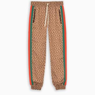 Gucci G rhombus track trousers