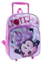 "Disney 16"" Minnie Mouse Polka Dot Rolling Kids Backpack - Pink"