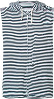 Engineered Garments striped sleeveless hoodie - men - Cotton - M