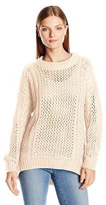 Noisy May Women's Fire Long Sleeve Funnel Neck Sweater