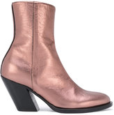 A.F.Vandevorst metallic mid-calf boots - women - Calf Leather/Leather - 37