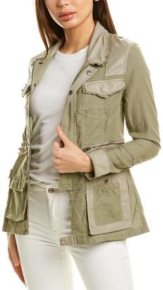 Jakett Camila Leather-Trim Jacket