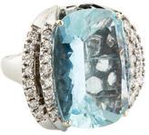Ring 14K Aquamarine & Diamond
