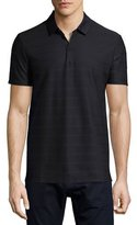 HUGO BOSS Structured Stripe Polo Shirt, Navy