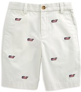 Vineyard Vines Boys' Flag Whale Embroidered Twill Shorts - Sizes 8-16