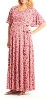 Everly Grey Women's Asa Maternity/nursing Maxi Wrap Dress