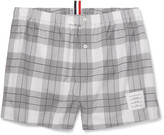 Thom Browne - Checked Cotton Boxer Shorts