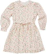 Marie Chantal Girls Bloom Wind Print Dress - Cream/Pink