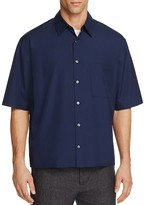 Vince Boxy Classic Fit Button-Down Shirt