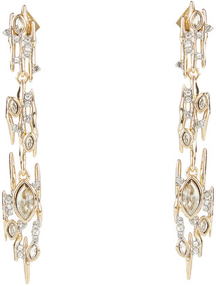 Alexis Bittar Navette Crystal Linear Spike Post Earring