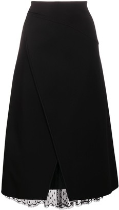 Givenchy Lace Trim Wrap Skirt