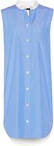 Alexander Wang Paneled pinstriped cotton mini dress