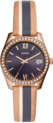 Fossil Women Scarlette Mini Multicolored Leather Strap Watch 32mm