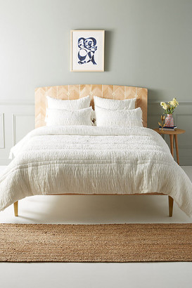 Anthropologie Textured Bardot Quilt By in White Size Q top/bed