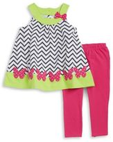 Kids Headquarters Girls Butterfly Tunic and Pants Set