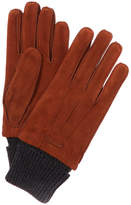 Burberry Wool & Cashmere-Trim Suede Gloves