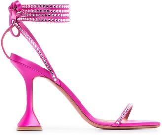 Amina Muaddi Vita 95mm wrap-tie sandals