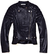 Carven Quilted Leather Motorcycle Jacket