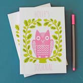 Sukie Personalised Owl Notebook