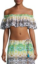 Ale By Alessandra Bengal Shore Smocked Crop Top, Multi