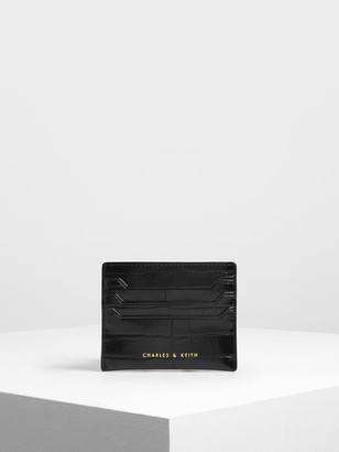 Charles & Keith Croc-Effect Card Holder