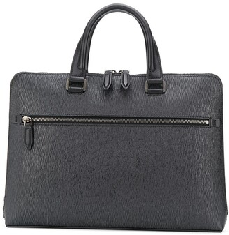 Salvatore Ferragamo Zipped Textured Briefcase