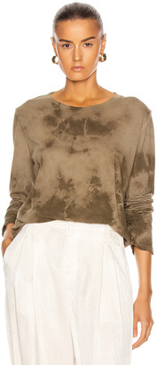 Raquel Allegra Long Sleeve Tee in Army Tie Dye | FWRD