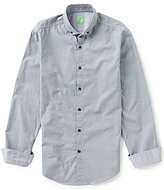 HUGO BOSS BOSS Green Billa Slim-Fit Printed Poplin Long-Sleeve Woven Shirt