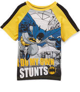 Children's Apparel Network Batman Yellow & Black 'I Do My Own Stunts' Tee - Toddler