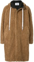 MSGM concealed shearling coat
