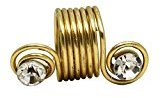 Magic Beauty Collection DIY Hair Braid Ring Gold Short Length Hair Jewelry