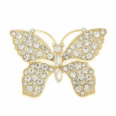MONET JEWELRY Monet Crystal Butterfly Pin