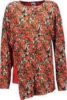 M Missoni Printed asymmetric stretch-jersey top