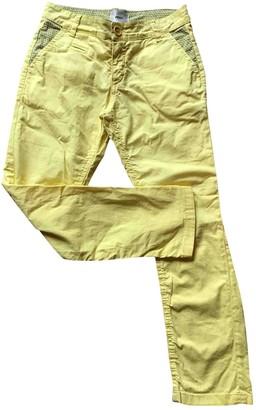 Fendi Yellow Cotton Trousers