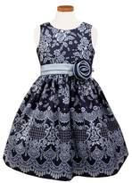 Sorbet Girl's Floral Print Shantung Dress