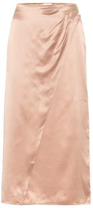 Vince High-rise silk-satin midi dress