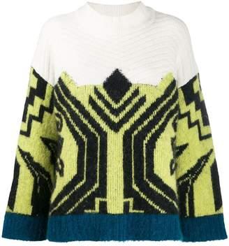 Circus Hotel Aztec pattern knit jumper