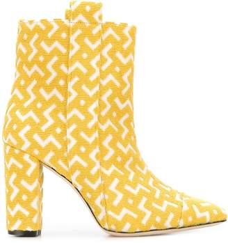 Bams geometric pattern ankle boots