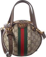 Gucci Ophidia Mini Gg Supreme Canvas & Leather Shoulder Bag