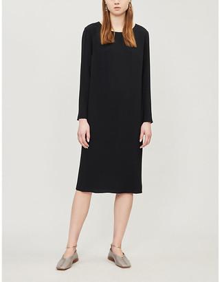 The Row Larina crepe shift dress
