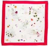 Hermes Des Fleurs Pour le Dire Silk Scarf