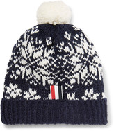 Thom Browne - Fair Isle Wool And Mohair-blend Bobble Hat