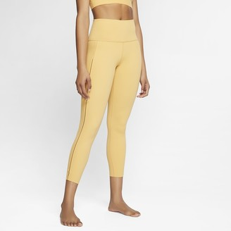 Nike Women's Infinalon Ribbed 7/8 Tights Yoga Luxe