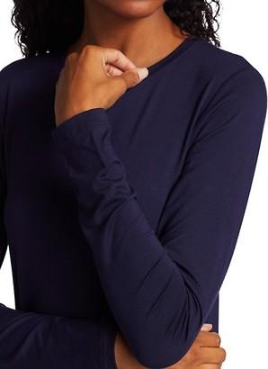 L'Agence Tess Crewneck Long-Sleeve T-Shirt