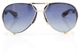 Givenchy 65mm Aviator Sunglasses in Gold